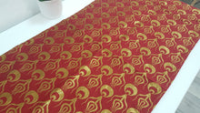 Red and Gold Colour Tapestry Runner