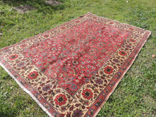 Persian Rug 4x6 Pink Colour Floral Patterns