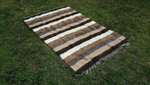 4x6 Striped Shaggy Kilim ON CLEARENCE ONLY $99
