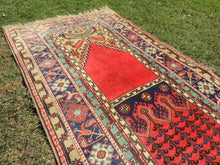Turkish Konya Prayer Rug Semi Antique