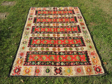 5x8 ft. Red Balkan Kilim Top Quality Rugs
