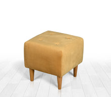 "Ottoman Pouf Tomp Yellow 16,5"" x 16,9"" x 16,9"" inches"