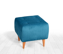 "Ottoman Pouf Tomp Oil Green 16,5"" x 16,9"" x 16,9"" inches"