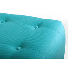 "Ottoman Pouf Tomp Turquoise 16,5"" x 16,9"" x 16,9"" inches"
