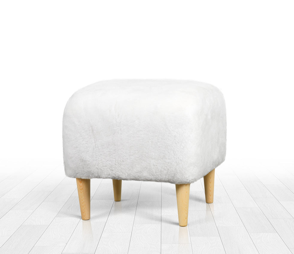 Astounding Ottoman Pouf White Faux Sheepskin Square 16 5 Camellatalisay Diy Chair Ideas Camellatalisaycom