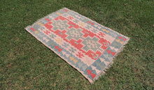 70's Turkish Oushak kilim rug - bosphorusrugs  - 1