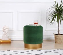"Pouf Ottoman Memphis Emerald Green 15,7"" x 17,7"" inches"
