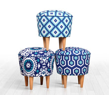 "Ottoman Pouf Sky Comb 16,5"" x 16,5"" inches"
