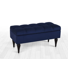 "Storage Bench Baloon Midnight Blue 16,1"" x 17,7"" x 35,8"" inches"