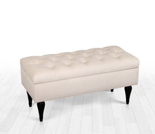 "Storage Bench Maye Cream 16,1"" x 17,7"" x 35,8"" inches"