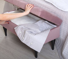 "Storage Bench Maye Lilac 16,1"" x 17,7"" x 35,8"" inches"