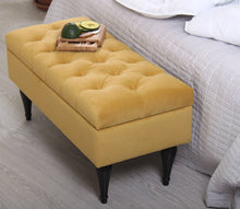 "Storage Bench Maye Yellow 16,1"" x 17,7"" x 35,8"" inches"