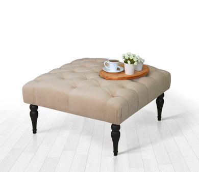 Tufted Square Bench Cream 16,9