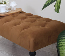 "Tufted Bench Missus Copper 16,9"" x 18,9"" x 36,2"" inches"