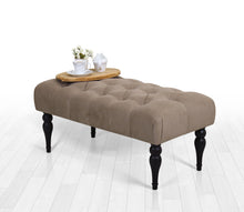 "Tufted Bench Missus Earthy 16,9"" x 18,9"" x 36,2"" inches"