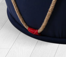 "Ottoman Pouf Phora Blue Red 16,5"" x 17,3"" inches"