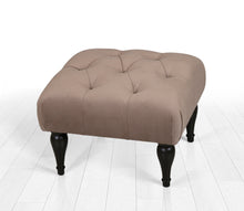 "Tufted Rectangle Ottoman Pouf Coffee 20"" x 14,1"" x 18,1"" inches"
