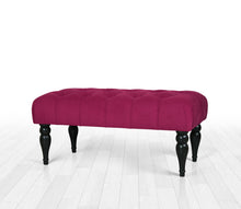 "Tufted Bench Missus Maroon 16,9"" x 18,9"" x 36,2"" inches"