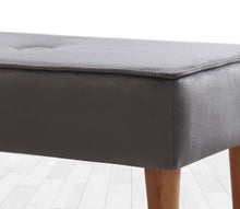 "Gray Bench Velvet 31,4"" x 15,7"" x 16,1"" inches"