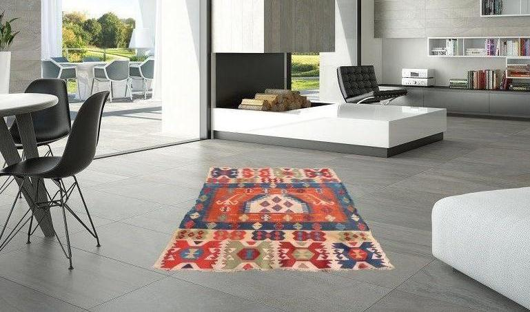 Turkish Prayer Kilim Rug with