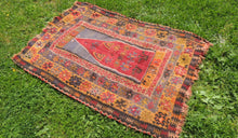 1890's antique Turkish prayer kilim - bosphorusrugs  - 1