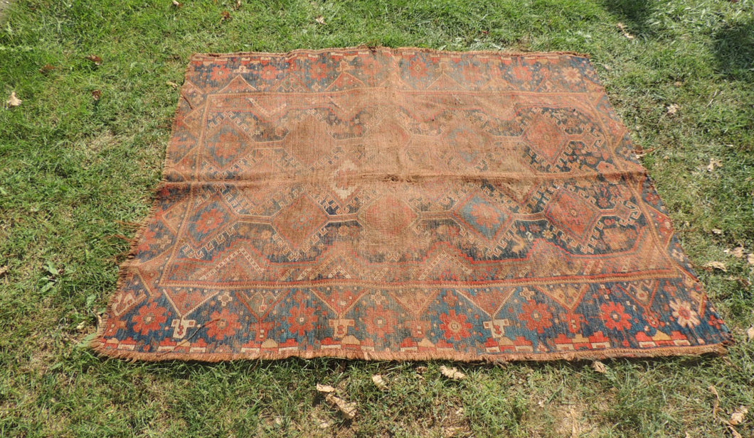 1890's Antique Area Rug 4x5 ft. - bosphorusrugs  - 1