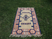 Tribal boho Turkish kilim - bosphorusrugs  - 2