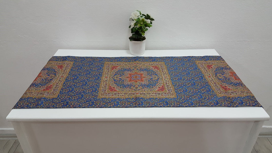 Blue Colour Tapestry Runner Ceramic Art