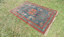 Vintage worn Persian area rug - bosphorusrugs  - 1