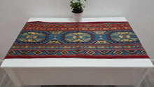 Blue and Red Runner Kilim Motifs
