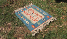 Cute blue boho kilim rug - bosphorusrugs  - 1