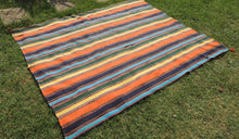Striped Nomadic Turkish Kilim Rug - bosphorusrugs  - 1