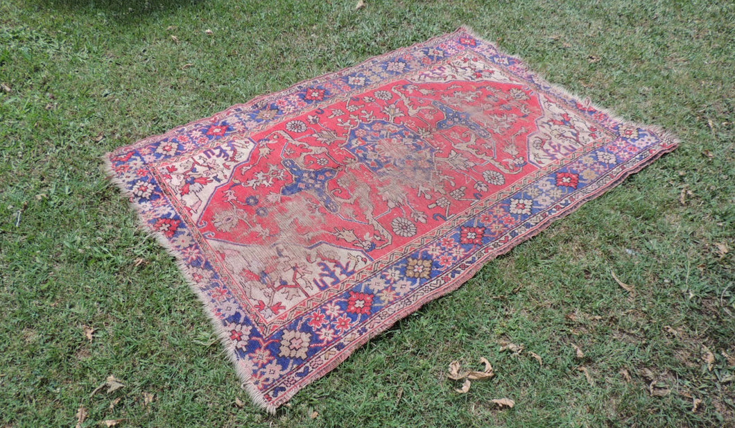 40's Bohemian Turkish area rug - bosphorusrugs  - 1