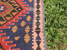 Navy Turkish Runner kilim - bosphorusrugs  - 7