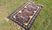 Blue and White Turkish area rug