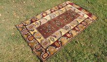 Circa 1980's Brown area rug - bosphorusrugs  - 1