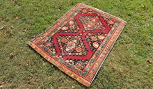 Antique Geometric Wool Turkish Area Rug