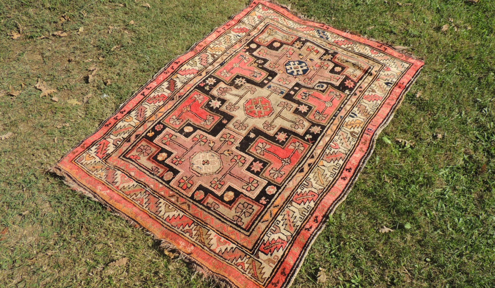 Antique Caucasian Area Rug - bosphorusrugs  - 1