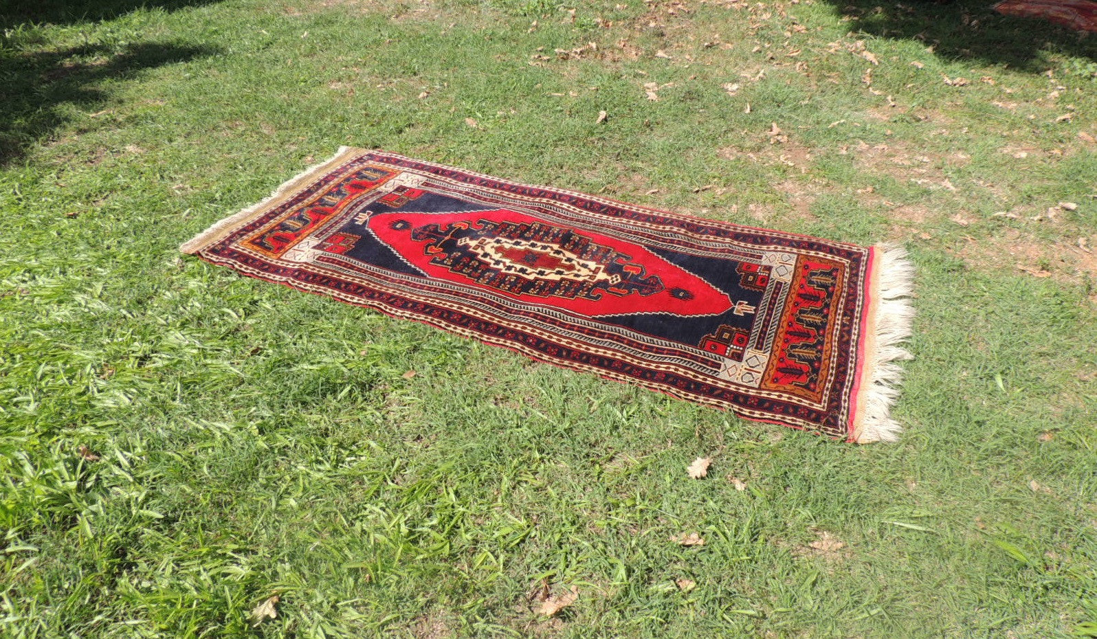 Wool Turkish tribal carpet - bosphorusrugs  - 1