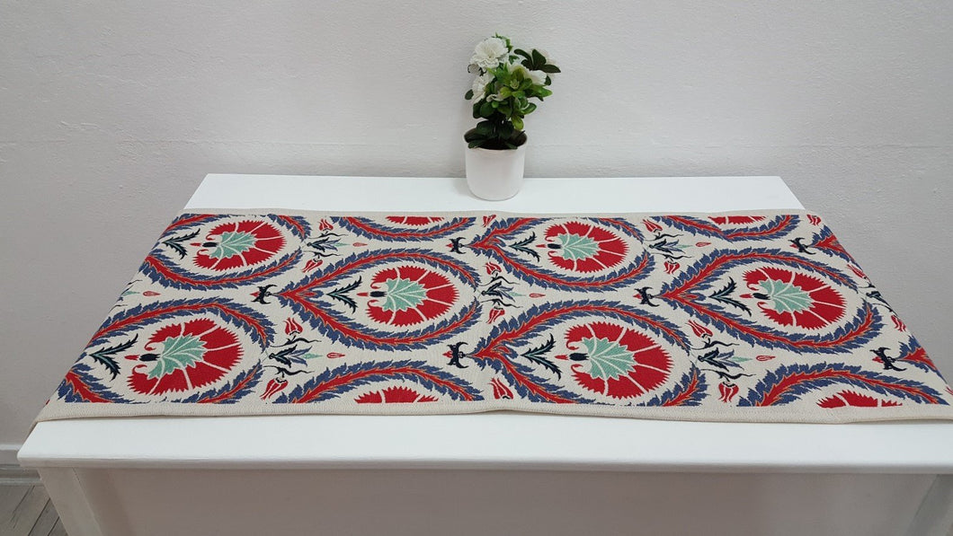 Ceramic Art Designed Floral Runner