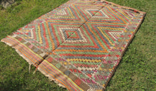 6x8 ft. Wool Turkish Kilim rug with Lovely Colors - bosphorusrugs  - 1