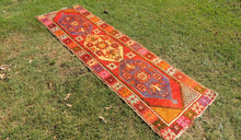 3x9 ft. Colorful Turkish Runner Rug with Lovely Bohemian Look