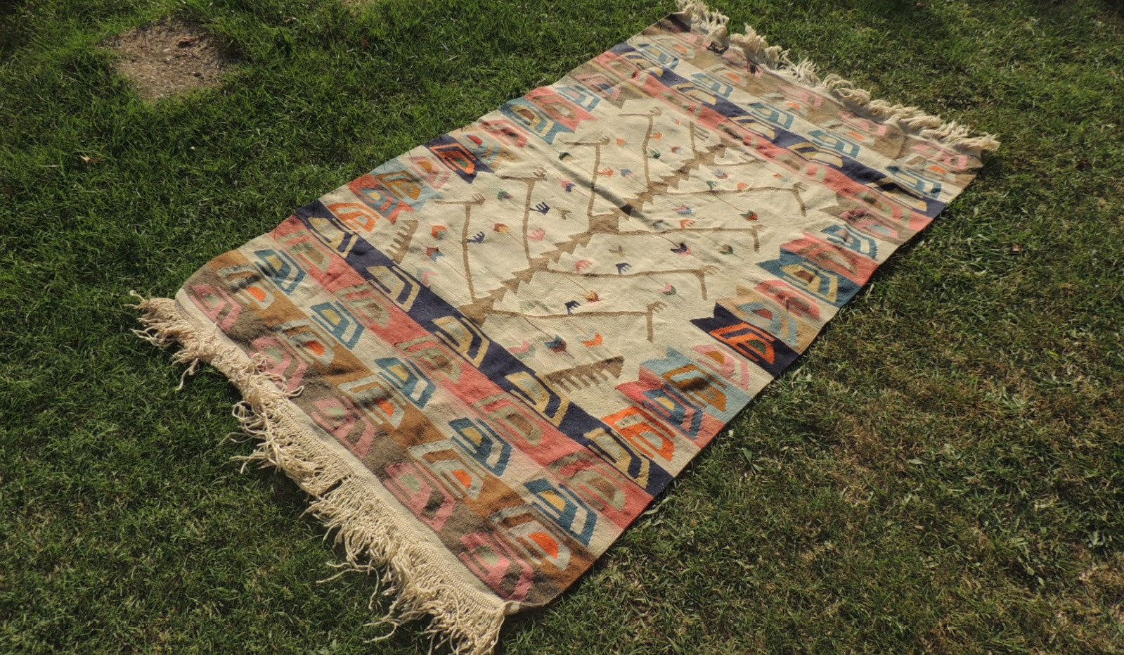 Kilim Rug with Tree of Life Design - bosphorusrugs  - 1