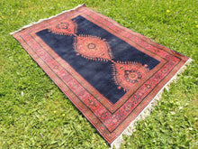 "Navy Turkish area rug ""Burdur"" - bosphorusrugs  - 3"