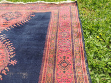 "Navy Turkish area rug ""Burdur"" - bosphorusrugs  - 8"