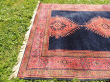 Silky navy Turkish area rug - bosphorusrugs  - 9