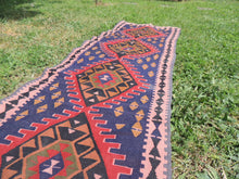 Navy Turkish Runner kilim - bosphorusrugs  - 6