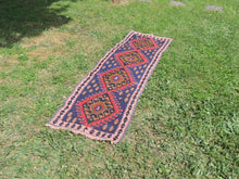 Navy Turkish Runner kilim - bosphorusrugs  - 4