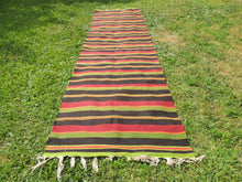 Striped Turkish runner retro kilim - bosphorusrugs  - 2