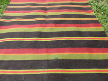 Striped Turkish runner retro kilim - bosphorusrugs  - 7